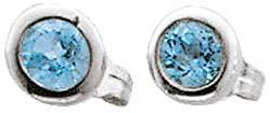 Silberohrringe – Ohrstecker Sterling Silber 925 mit Blautopas
