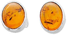 Ohrringe – Ohrschmuck. Ohrstecker mit echtem, wunderschönen  Bernstein aus echtem 925/- Silber Sterlingsilber, Durchmesser Steine ca.9,0 mm, Dicke ca. 4,85 mm, Stecker und Mutter rhodiniert (Weißgold-Look) und hochglanzpoliert. Bernsteine mit Niedrigpreis