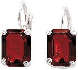Ohrringe aus echtem Silber Sterlingsilber 925/- mit zwei strahlend roten Zirkonia besetzt, Größe: ca. 9,8mm x 7,8mm. In Premiumqualität von Deutschlands größtem und günstigstem Schmuckverkäufer. Der unschlagbare Preis aus Stuttgart! Die Nr. 1 für Gold, Si