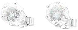 Ohrringe – Silberohrschmuck.  Wunderschöne Ohrstecker aus echtem Silber Sterlingsilber 925/- mit  2 wunderschön funkelnden Ice Crystal Zirkonia im absoluten Topdesign. Durchmesser Stein ca. 0,47 mm, rhodiniert und hochglanzpoliert. Ein edles Accessoire fü