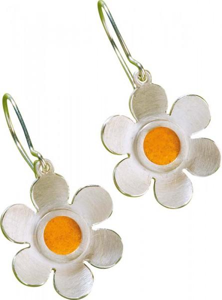 Ohrringe – Filzis Ohrhänger 01310201 aus 925 /- Silber Sterlingsilber, mit austauschbaren Filzpads, für alle Filzpads werden in 17 verschiedenen Farben mitgeliefert.