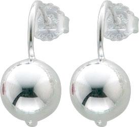 Ohrringe – Ohrstecker aus Silber Sterlingsilber 925/- mit einer halbmassiven Perle aus Silber Sterlingsilber 925/-. Spitzenqualität zum Schnäppchenpreis aus dem Hause Abramowicz, dem Juwelier Ihres Vertrauens seit 1949, aus Stuttgart, Rotebühlstr. 155